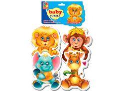 Беби-пазлы 4 в 1 Зоопарк (вариант 2), Vladi Toys