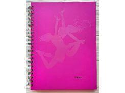 Блокнот Аркуш B4 120 листов в клетку боковая спираль твердая обложка Розовый (1NB403)
