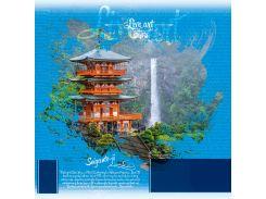 Блокнот Аркуш Япония 19,8 × 20,1 см в клетку 80 листов (1NB891)
