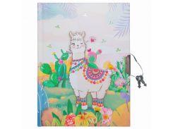 Блокнот детский Malevaro Веселая лама 15 × 11 см 56 л. с ручкой (361902-BP)
