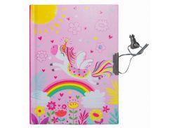 Блокнот детский Malevaro Единорог розовый 15 × 11 см 56 л. с ручкой (641855-A)