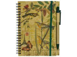 Блокнот Птицы, на пружине, с ручкой, Malevaro