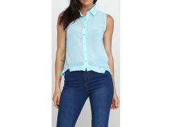 Блуза голубая, размер L, Zarga