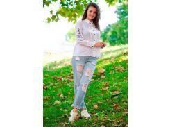 Блузка женская Innoe, белая (48)