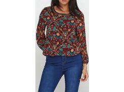 Блузка разноцветная-бордовая, размер 38, Ageless