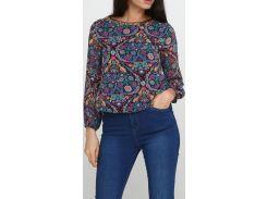 Блузка разноцветная-синяя, размер 36, Ageless
