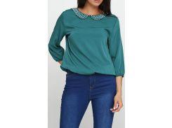 Блузка темно-бирюзовая, размер 36, Ageless