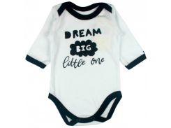 Бодик белый Little stars, Dream Big Little one (80), MISHKA