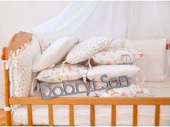 Бортики-защита в кроватку Добрый Сон от комплекта Верона из сатина 12 шт Зверята (3-08-1/4)