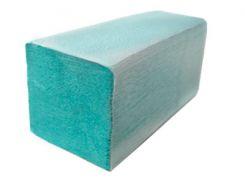 Бумажное полотенце V-сложения, зеленое, макулатура, Greenix