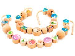 Бусы Ассорти (48 штук), Мир деревянных игрушек