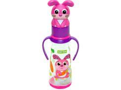 Бутылочка для кормления с силиконовой соской (фиолетовый цвет), 250 мл, Baby Team