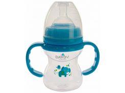 Бутылочка для кормления, 150 мл, синяя, Bayby