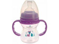 Бутылочка для кормления, 150 мл, фиолетовая, Bayby