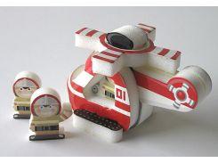 Вертолет, Мягкий 3D конструктор-пиктограмма, Умная бумага