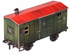Временно-багажный вагон, Сборная модель из картона, Умная бумага