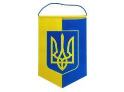 Вымпел Украина для авто, двухцветный (8 × 11 см) на присоске