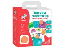 Геометрические фигуры, деревянные фигурки в мешочке, Vladi Toys