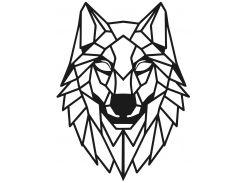 Геометрический настенный декор Волк, SO Green