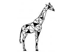 Геометрический настенный декор Жираф, дерево, SO Green