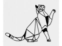 Геометрический настенный декор Кот, акрил, SO Green