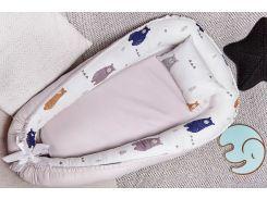 Гнездо для новорожденных Добрый Сон Мишка сатин 52 × 85 см серый (5-04/7)