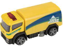 Грузовик Teamsterz Road Sweeper 4 желтый 10 см (1416384)