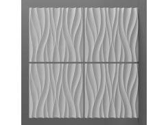 Декоративная 3D-панель Волна, 1 панель 50 × 50 см, Дорожко