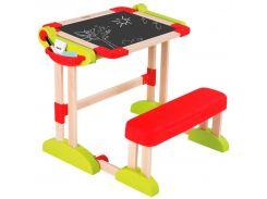 Деревянная парта для рисования, Smoby Toys