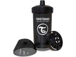 Детская чашка 360 мл., 12+ мес.,  черная, Twistshake