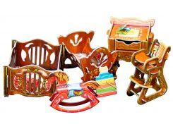 Детская, коллекционный набор сборной мебели из картона, Умная бумага