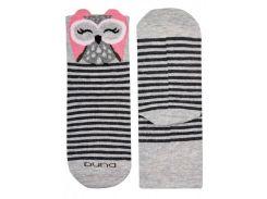 Детские носки с совой, Duna, светло-серый, 20-22