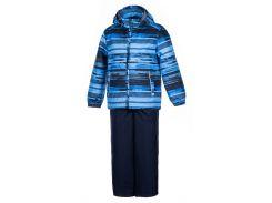 Детский комплект (куртка и полукомбинезон) YOKO, Huppa, синий с принтом-темно-синий (122)