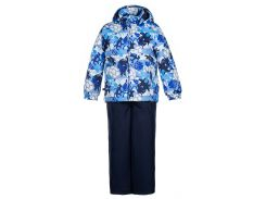 Детский комплект (куртка и полукомбинезон) YOKO, Huppa, темно-синий с принтом-темно-синий (98)