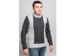 Джемпер большой рельефной вязки, Gerekli, светло-серый с темно-серым (48)
