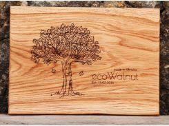 Доска дубовая прямоугольная S, EcoWalnut