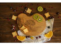 Доска ореховая Камешек L, EcoWalnut