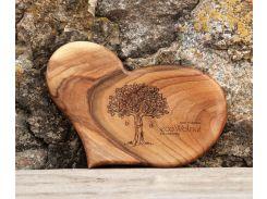 Доска ореховая Сердце M, EcoWalnut