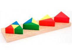 Дроби малые 3 Треугольник, Мир деревянных игрушек