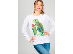 Женский свитшот с динозавром, Диво, белый, М