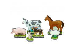Животные, Мягкий конструктор-игрушка серии Конструктор на ладони, Умная бумага
