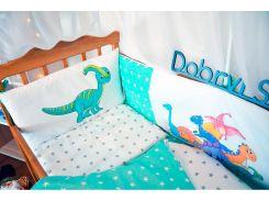 Защита-бортики в кроватку для новорожденных Добрый Сон от комплекта Леко 4 шт Дино (1-06-1/1)