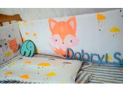 Защита-бортики в кроватку для новорожденных Добрый Сон от комплекта Леко 4 шт Лисичка (1-06-1/6)