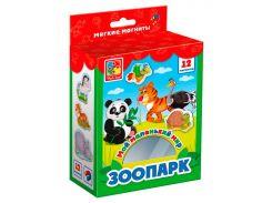 Зоопарк, коллекция магнитов, Мой маленький мир (рус), Vladi Toys