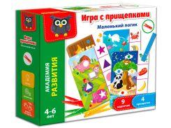 Игра с прищепками Маленький логик (рус.), Vladi Toys