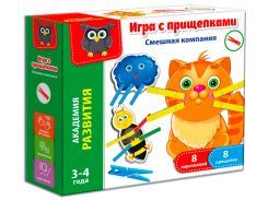 Игра с прищепками Смешная компания (рус.), Vladi Toys