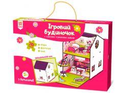 Игровой домик с мебелью, деревянный игровой набор, Зирка