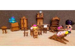 Игрушечная мебель Будинок мрій светло-коричневая (bud-007)