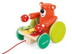 Игрушка-каталка Мишка с ксилофоном, Janod