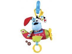 Игрушка-подвеска музыкальная Собачка-пилот, Yookidoo